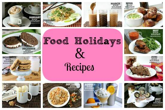 Food Holidays & Recipes | SnappyGourmet.com