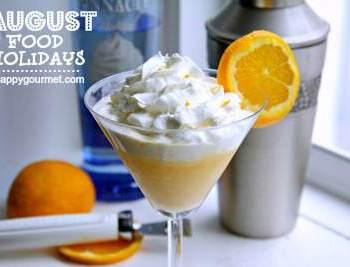 orange creamsicletini - august food holidays