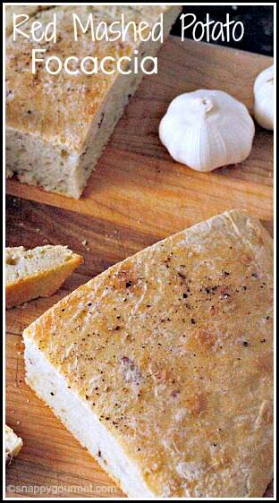Red Mashed Potato Focaccia Recipe - easy homemade bread | SnappyGourmet.com