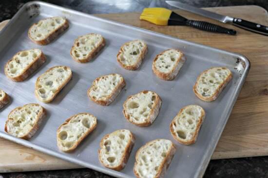 Bean & Beet Salad Crostini Appetizer Recipe | snappygourmet.com
