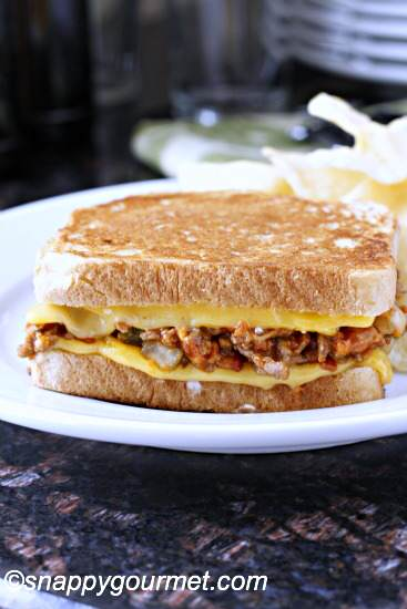 Sloppy Burger Grilled Cheese Recipe @snappygourmet.com