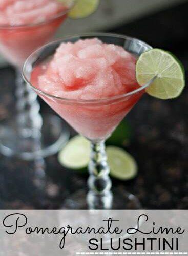 Pomegranate Lime Slushtini | snappygourmet.com