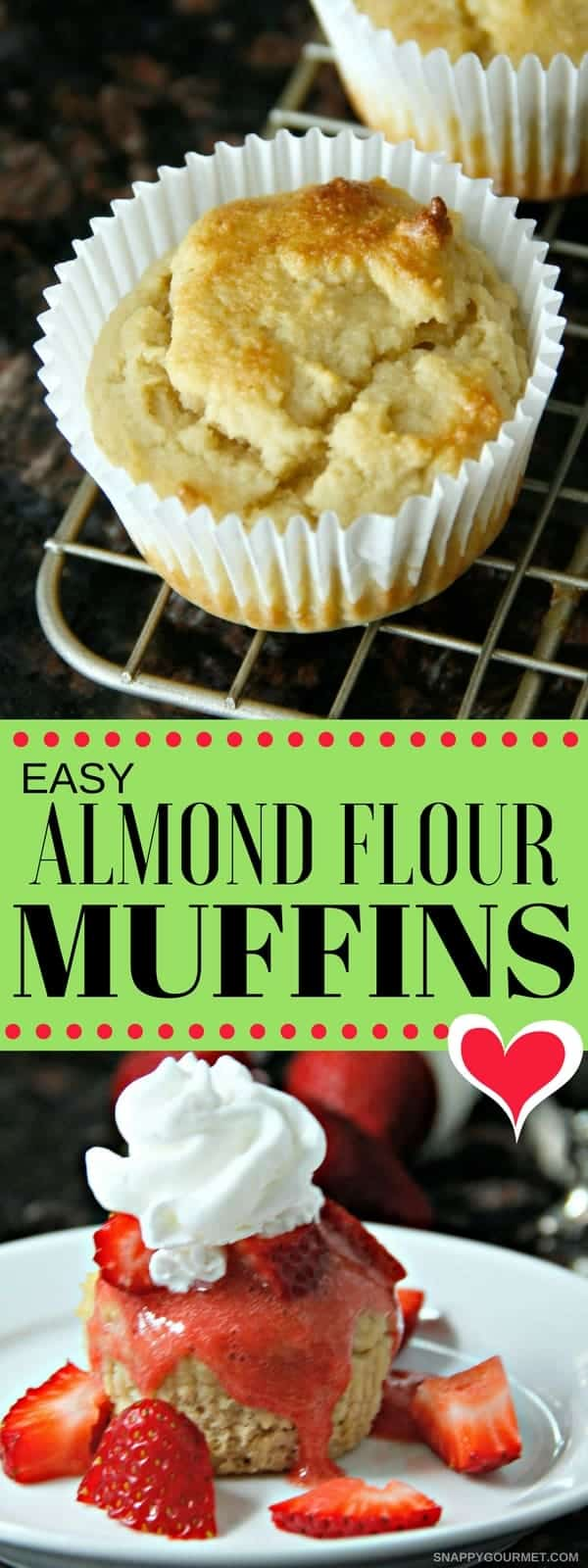 Easy Almond Flour Muffins Recipe - low carb and gluten free breakfast option. #AlmondFlour #LowCarb #Breakfast #SnappyGourmet