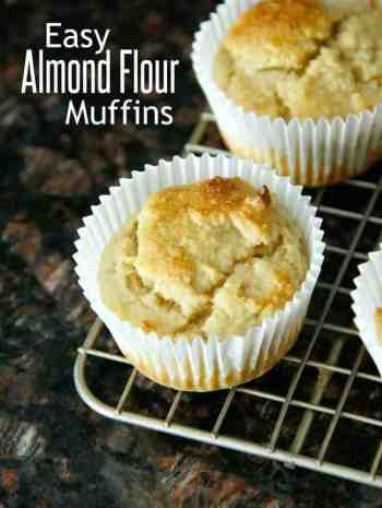 close up of almond flour muffin on cooling rack