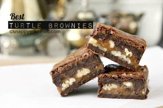 Best Turtle Brownies Recipe | snappygourmet.com