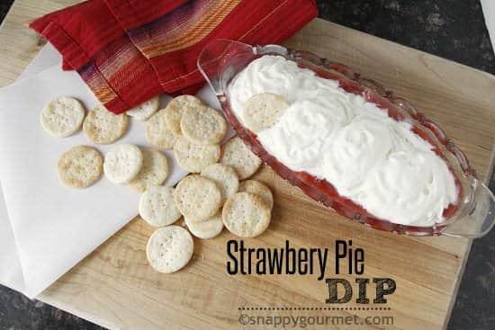 Strawberry Pie Dip | snappygourmet.com