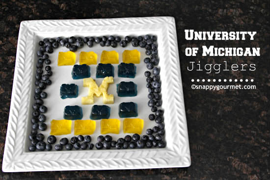 University of Michigan Jigglers - Game Day Food! snappygourmet.com