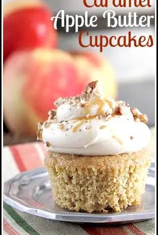 Caramel Apple Butter Cupcakes