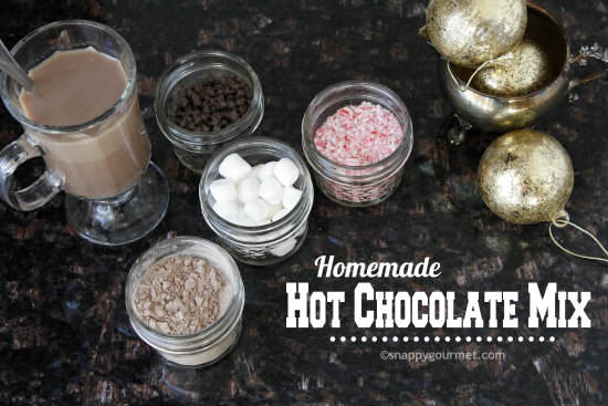 Homemade Hot Chocolate Mix Recipe & toppings   snappygourmet.com
