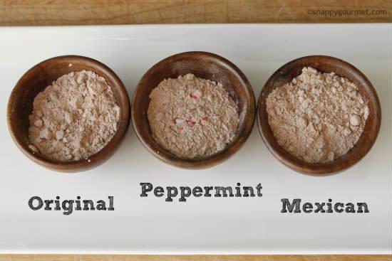 Homemade Hot Chocolate Mix Recipe (3 flavors)   snappygourmet.com