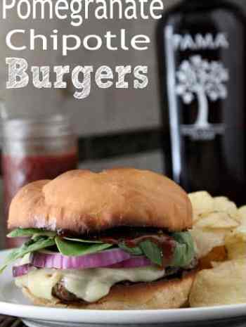 Pomegranate Chipotle Burger