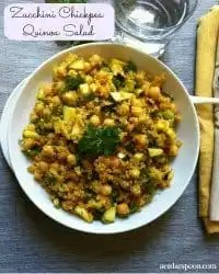 70+ Best Zucchini Recipes (Zucchini Chickpea Quinoa Salad Recipe) | SnappyGourmet.com