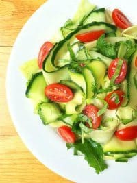 70+ Best Zucchini Recipes (Zucchini Cucumber Ribbon Salad Recipe) | SnappyGourmet.com