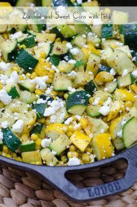 70+ Best Zucchini Recipes (Zucchini and Sweet Corn with Feta Recipe)   SnappyGourmet.com