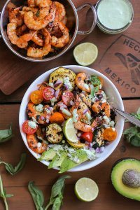 70+ Best Zucchini Recipes (Grilled Red Curry Shrimp Bowls Recipe) | SnappyGourmet.com