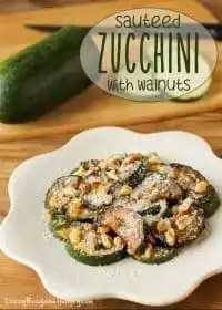 70+ Best Zucchini Recipes (Sauteed Zucchini with Walnuts Recipe) | SnappyGourmet.com