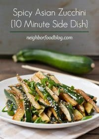 70+ Best Zucchini Recipes (Spicy Asian Zucchini Side Dish Recipe) | SnappyGourmet.com