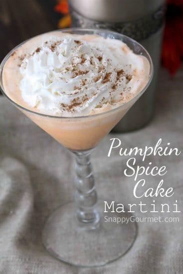 Pumpkin spice cake martini recipe snappy gourmet for Halloween martini recipes vodka
