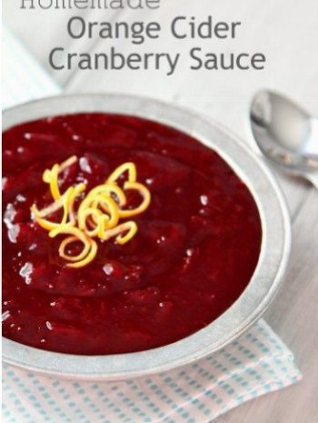 Homemade Orange Cider Cranberry Sauce Recipe - an easy Thanksgiving side dish that you can make ahead! SnappyGourmet.com