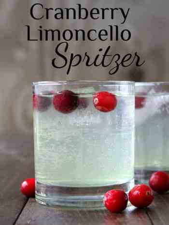 Cranberry Limoncello Spritzer Cocktail Recipe (Italian Cocktail)