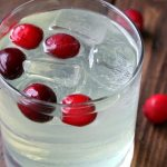 Cranberry Limoncello Spritzer Cocktail Recipe - easy holiday drink! SnappyGourmet.com