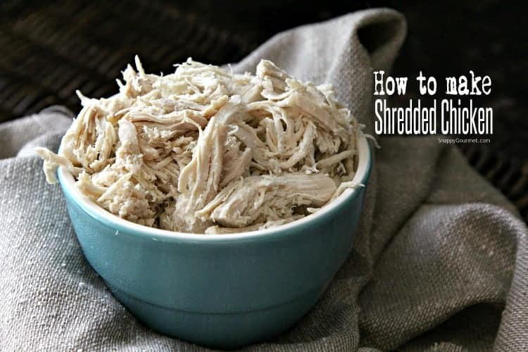 How to make shredded chicken fast at home on the stove top with chicken breasts