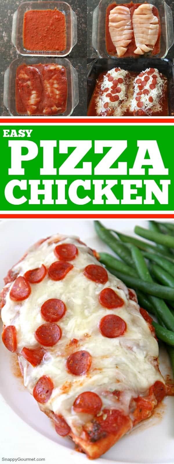 Pizza Chicken collage