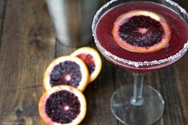 Blood Orange Margarita recipe - easy refreshing cocktail | SnappyGourmet.com