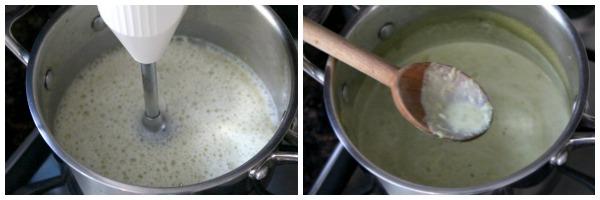 Mini Pea Soup Bread Bowls - easy homemade pea soup recipe! SnappyGourmet.com
