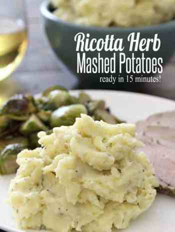 Ricotta Herb Mashed Potatoes Recipe