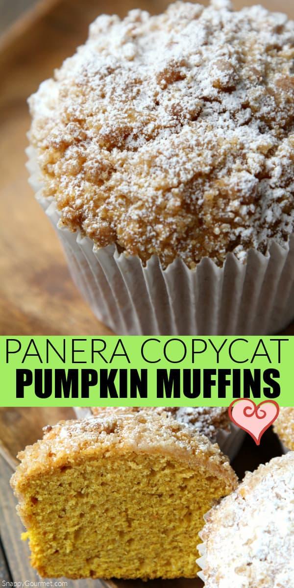 collage of pumpkin muffins
