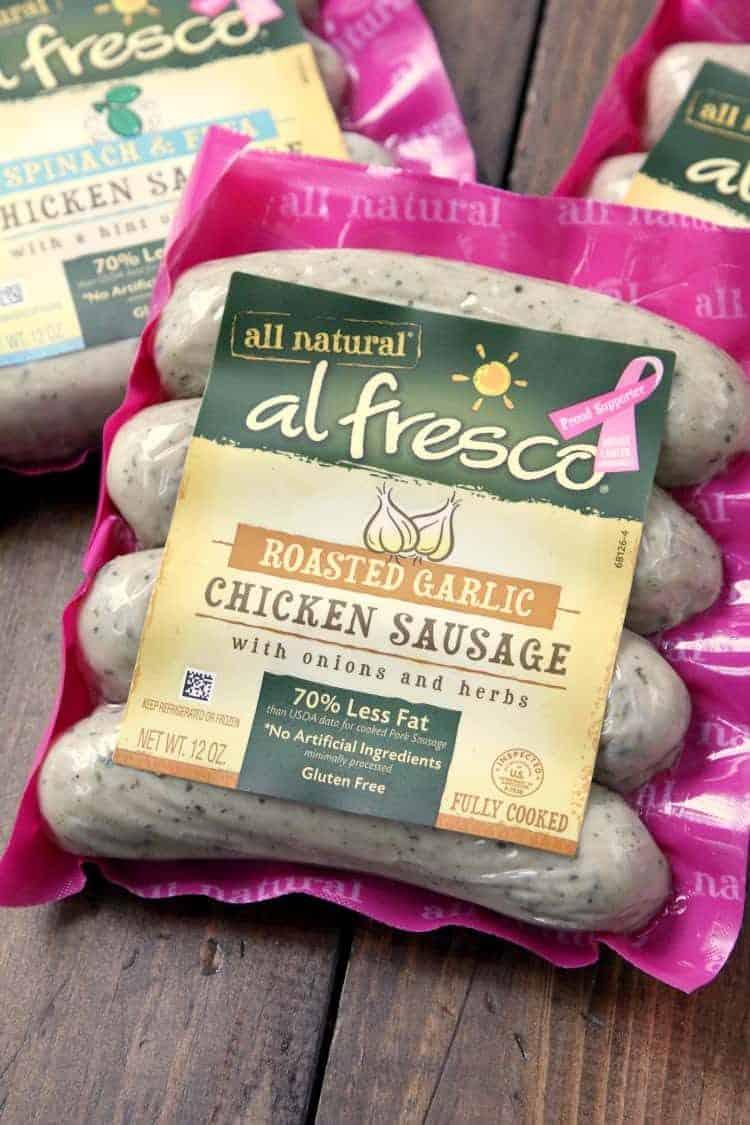Easy Chicken Parmesan Sausage Bites Recipe - fun twist on chicken parm using al fresco sausage! SnappyGourmet.com