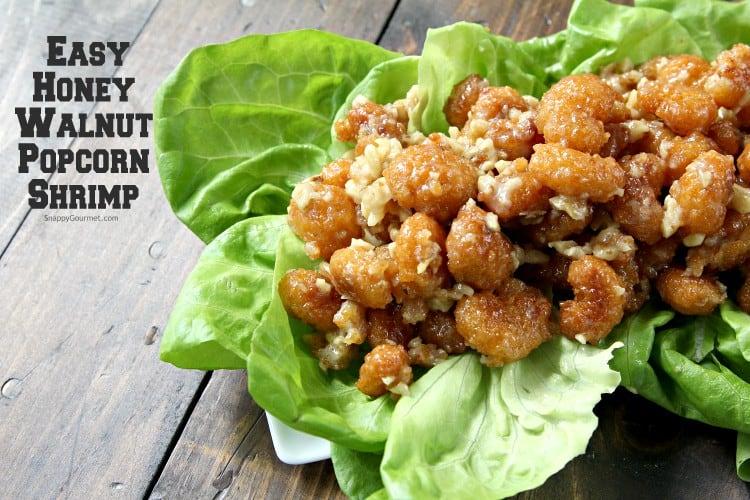 Easy Honey Walnut Popcorn Shrimp Recipe - How to make an easy Honey Walnut Shrimp Appetizer. SnappyGourmet.com