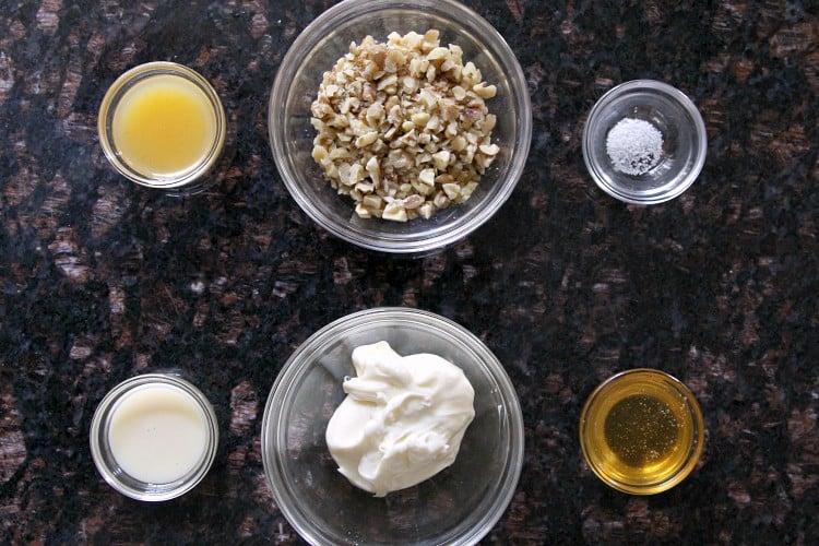 Easy Honey Walnut Popcorn Shrimp Recipe with mayonnaise, honey, sweetened condensed milk, orange juice, and walnuts - SnappyGourmet.com