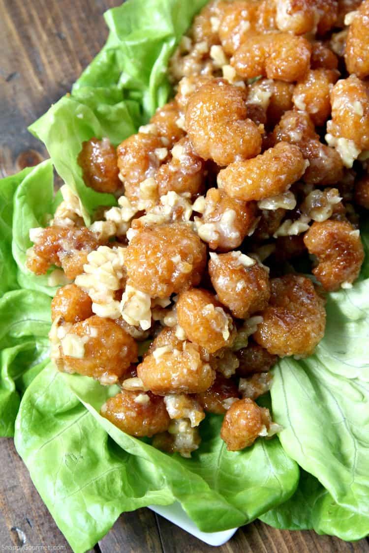 Easy Honey Walnut Popcorn Shrimp Recipe - An easy Honey Walnut Shrimp recipe! SnappyGourmet.com