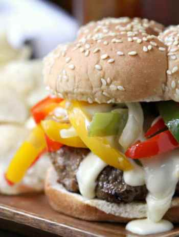 Philly Cheesesteak Burger Recipe