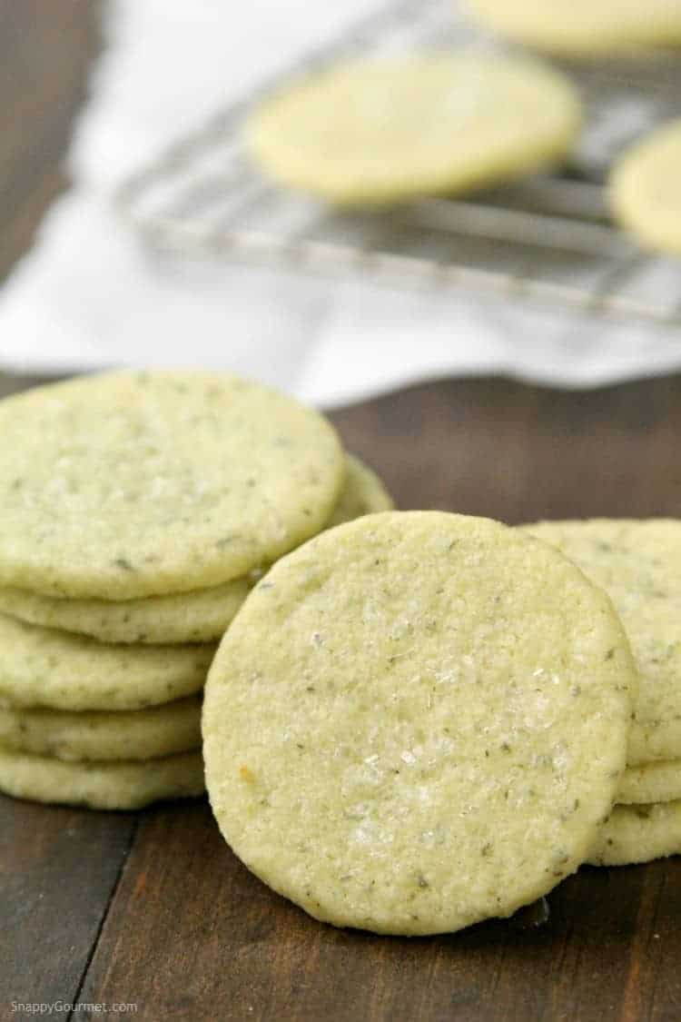 Mojito Cookies Recipe - Easy homemade cookie recipe based on the lime and mint cocktail. SnappyGourmet.com