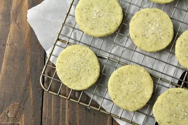 Mojito Cookies Recipe - easy lime cookies with mint and rum based on a mojito! SnappyGourmet.com