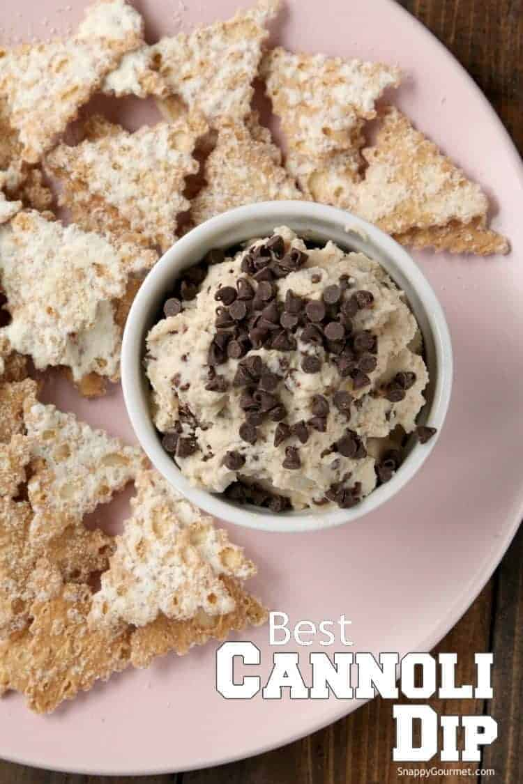 Best Cannoli Dip Recipe - A fun Cannoli Chips and Dip recipe that is easy to make! SnappyGourmet.com