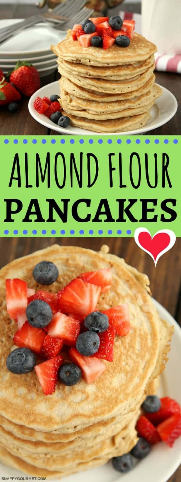 Almond Flour Pancakes - easy gluten free pancakes made in a blender!