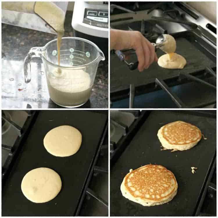 steps for how to make almond flour pancakes