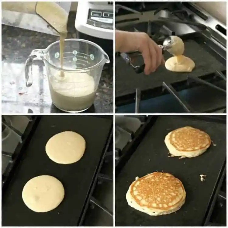 Almond Flour Pancakes Recipe - How to make in a blender and cook on a griddle.