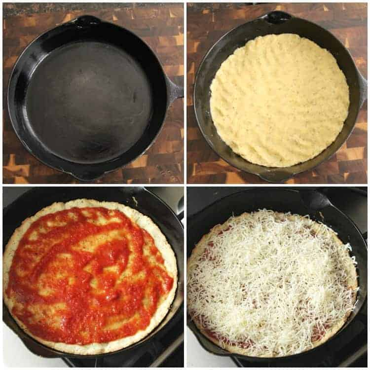 Almond Flour Pizza Crust Steps