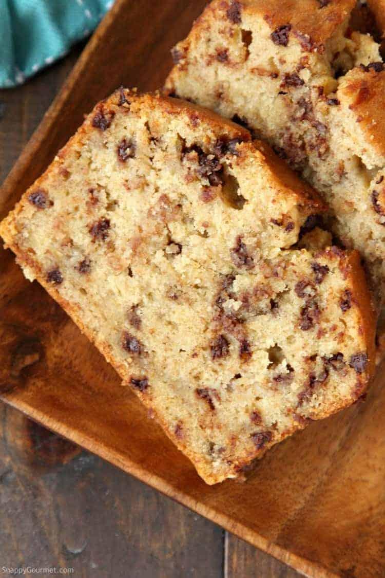 Easy Chocolate Chip Banana Bread Recipe One Bowl