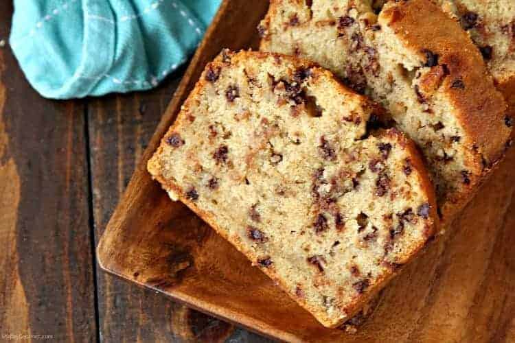 Easy Chocolate Chip Banana Bread Recipe One Bowl Snappy Gourmet