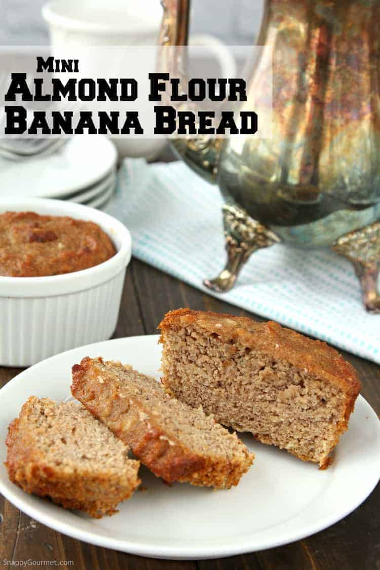 Almond flour banana bread recipe snappy gourmet almond flour banana bread loaf sliced on plate forumfinder Images