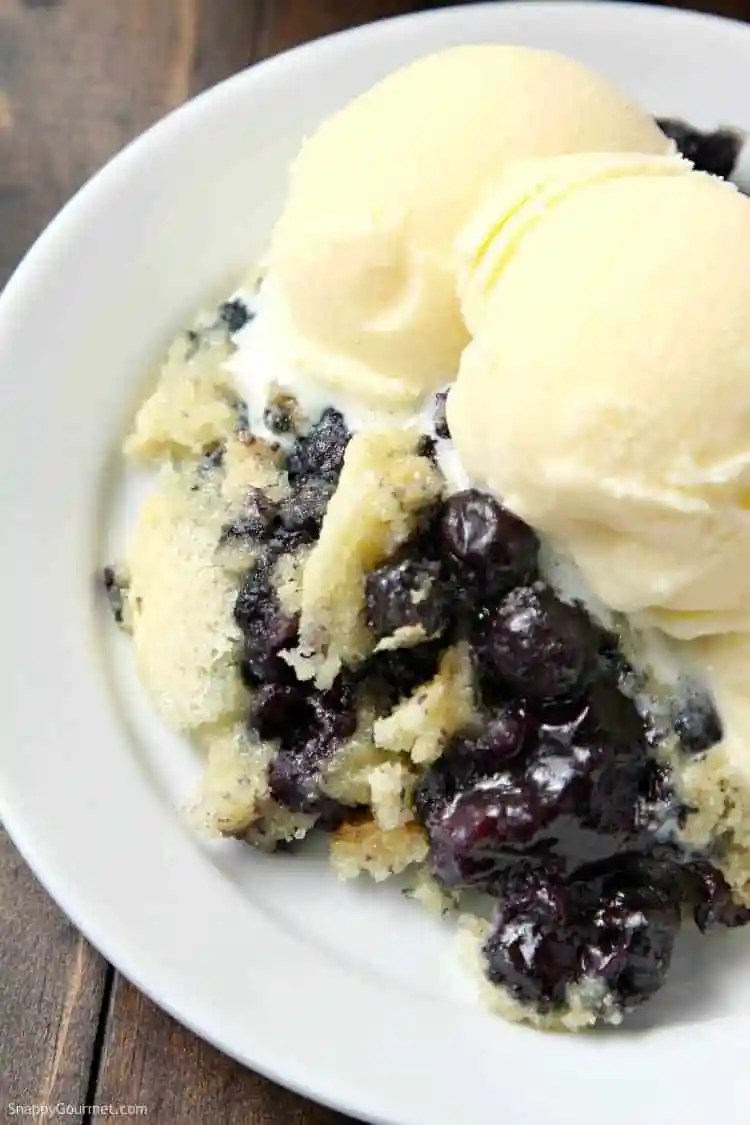 Blueberry Dump Cake Recipe - how to make a dump cake with blueberries and cake mix
