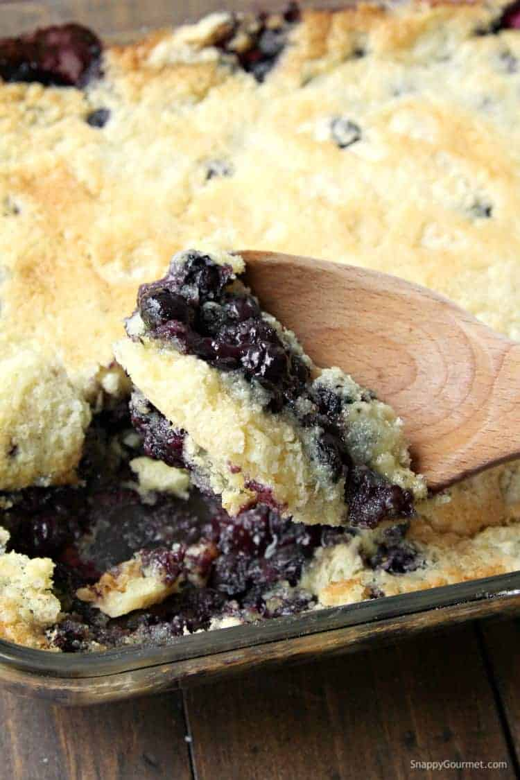 Blueberry Dump Cake Recipe - easy dessert like a dump cake cobbler