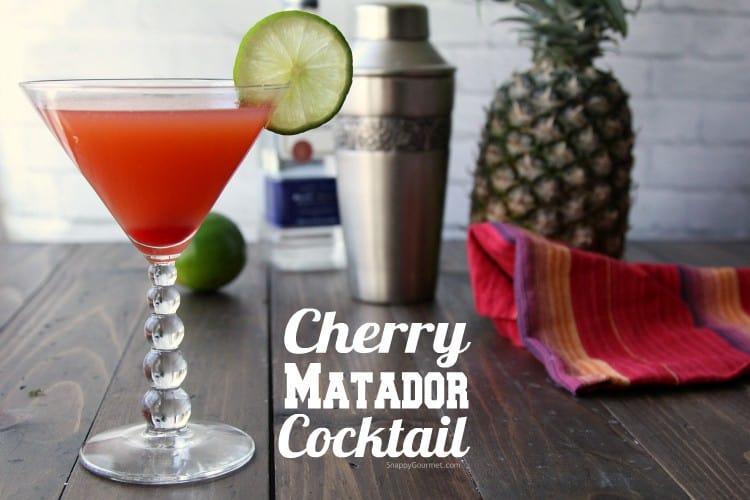 Cherry Matador Cocktail recipe - easy cherry Mexican cocktail