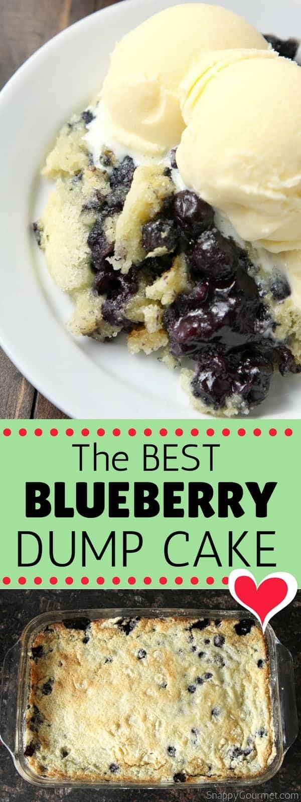 Blueberry Dump Cake Recipe - how to make a blueberry dump cake